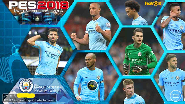 138990ea9 PES 2018  ANDROID  Manchester City Graphics Menu for Minimum Patch v3.9