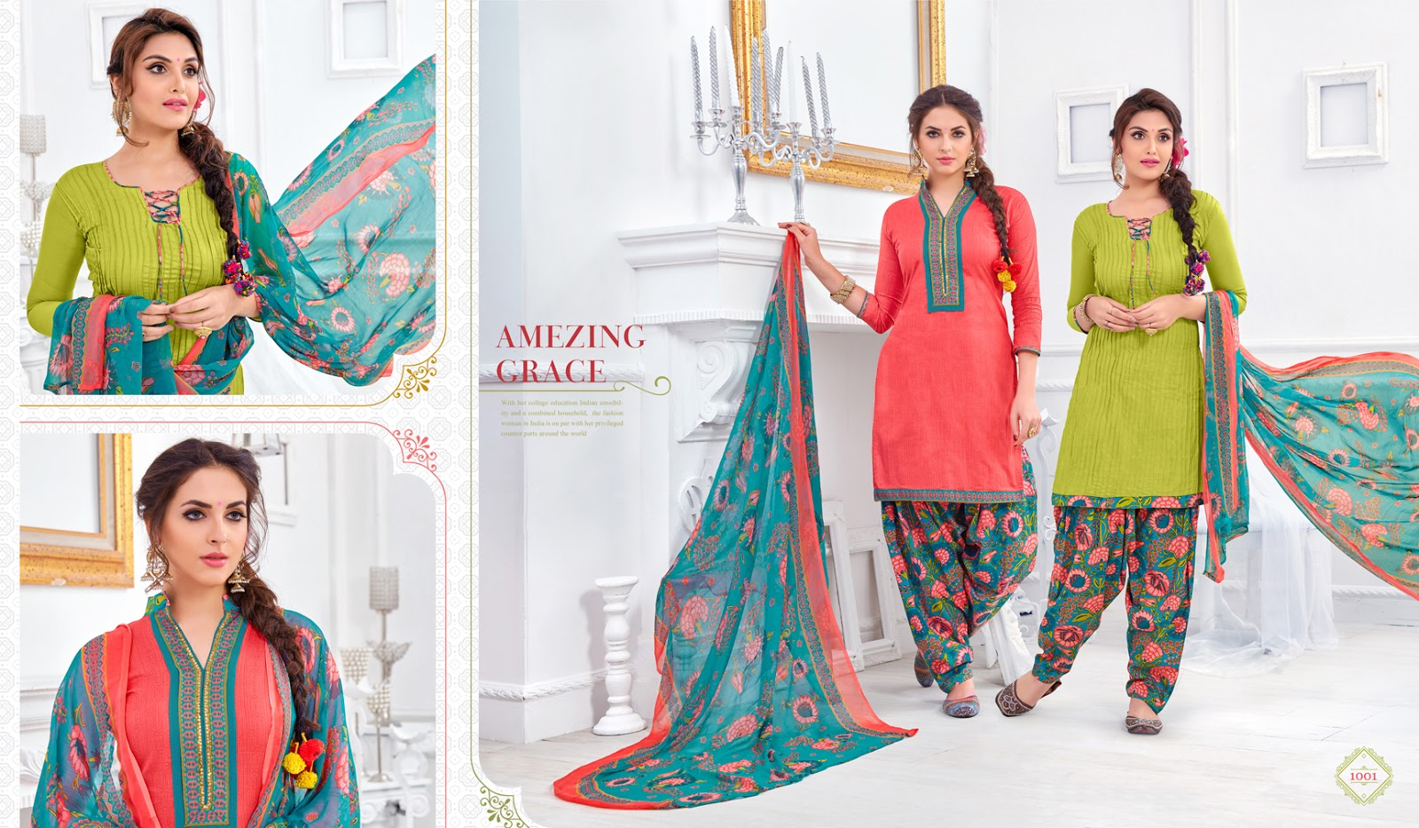 Rang Rangeela Patiyala Vol 1 – Designer Two Top Concept Dress Material