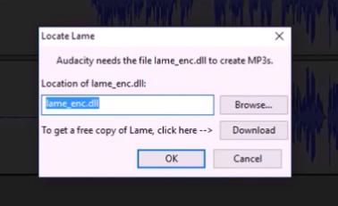 Cara download lame_enc.dll (Untuk eksport Audacity)