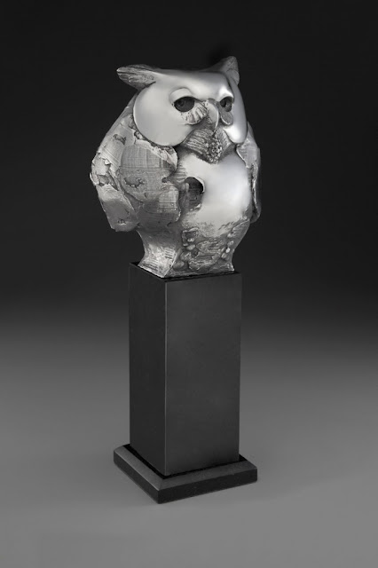 "by Tim Cherry, ""Wise Guy"" - stainless steel 