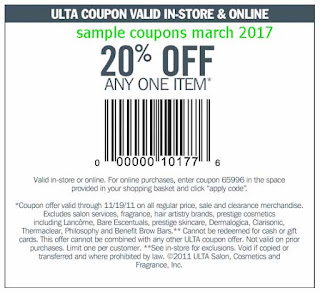 Ulta coupons march 2017