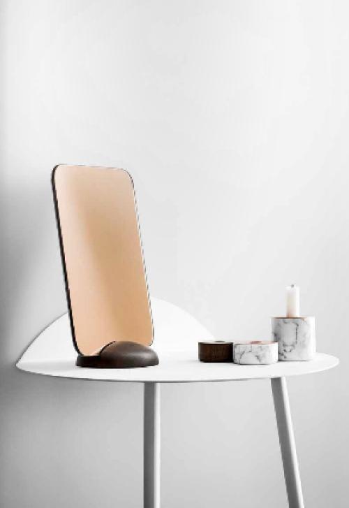 Tisch Marmor-Kerzenständert Spiegel Interiorblog