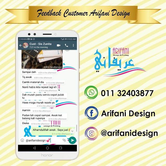 Testimoni Arifani Design Printing