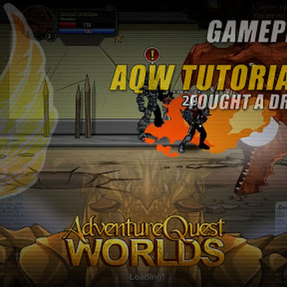 Adventure Quest Worlds ★ AQW Tutorial Area ☆ Fought A Dragon Head O_o