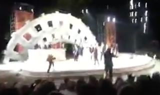 Protester arrested after rushing stage at controversial 'Julius Caesar' production