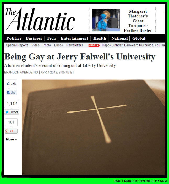 A screenshot of The Atlantic magazine online story by Brandon Ambrosino.