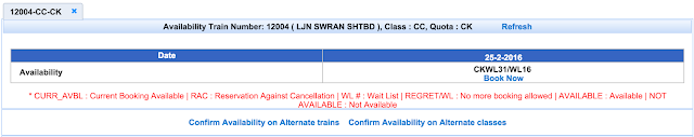 my train in which i want to book tatkal ticket.
