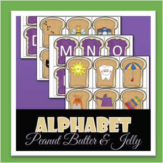 Alphabet Peanut Butter & Jelly Activity