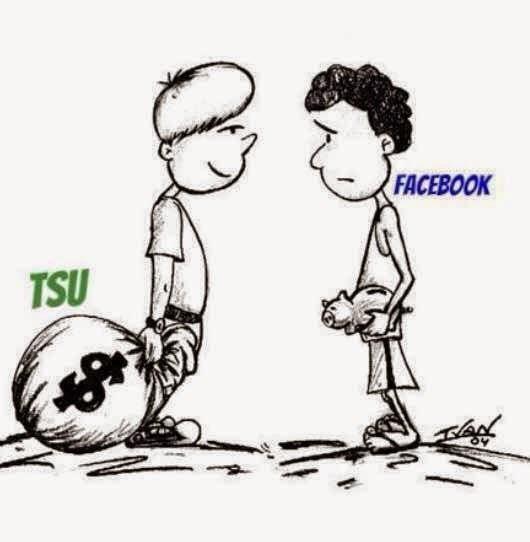 Resultado de imagen para tsu vs facebook