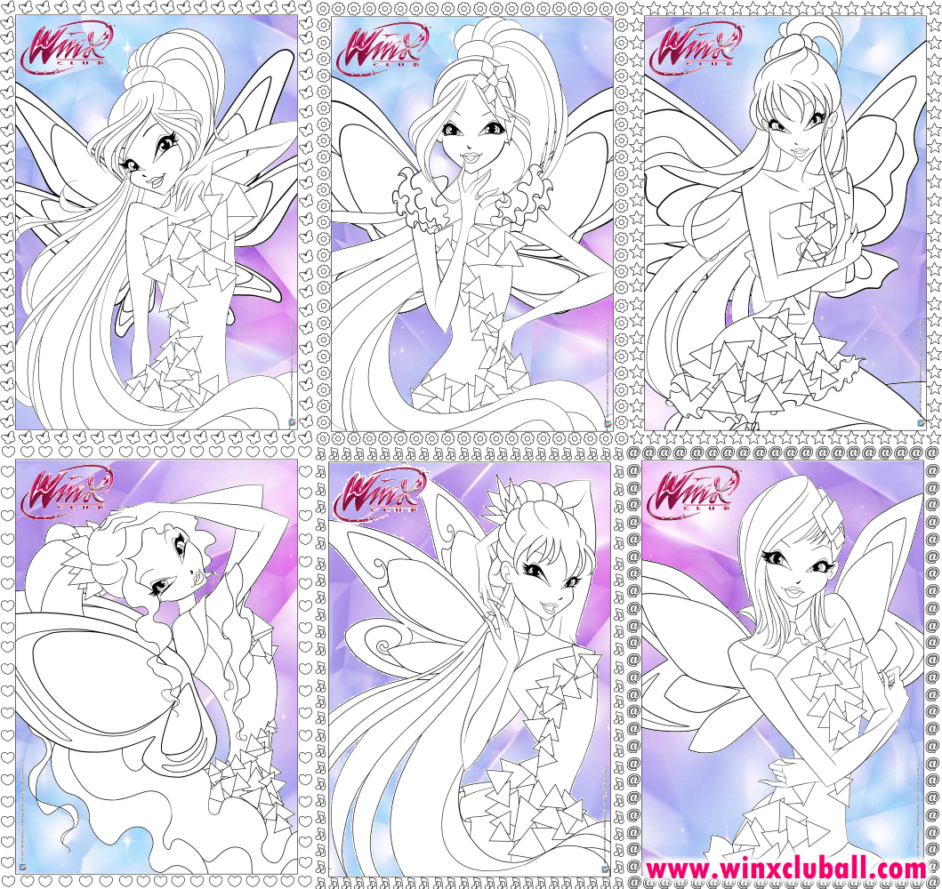 winx club tynix coloring pages winx club all