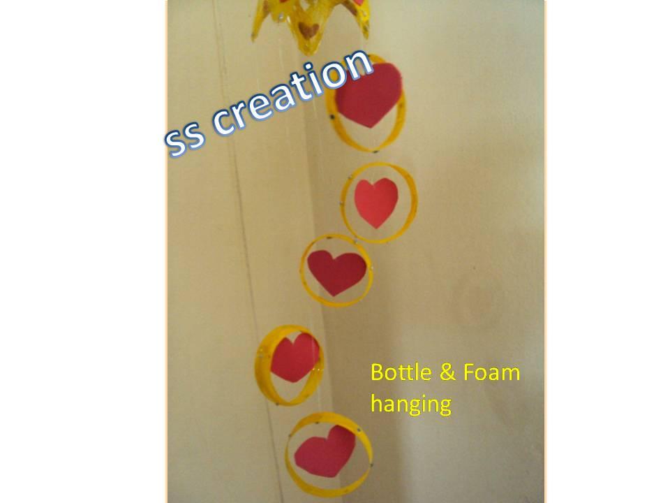 Plastic Bottle Hearts Hanging