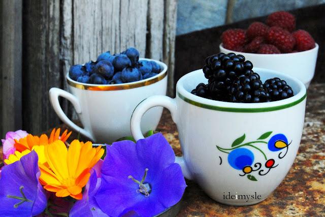 sałatka z borówkami, letnia sałatka, jadalne kwiaty, jadalne kwiaty dzwonka, przepis z floksami, dzwonek brzoskwiniolistny, jadalne rośliny ogrodowe, edible flowers, phlox recipe, edible bellflower