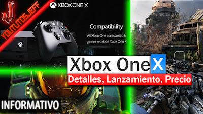 Xbox One X novedades, Fecha de lanzamiento xbox one x, precio de la xbox one x