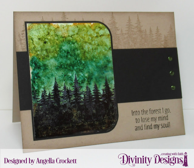 Divinity Designs Seek Me and Rounded Rectangles Dies, Card Designer Angie Crockett