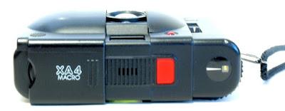 Olympus XA4 Macro, Top