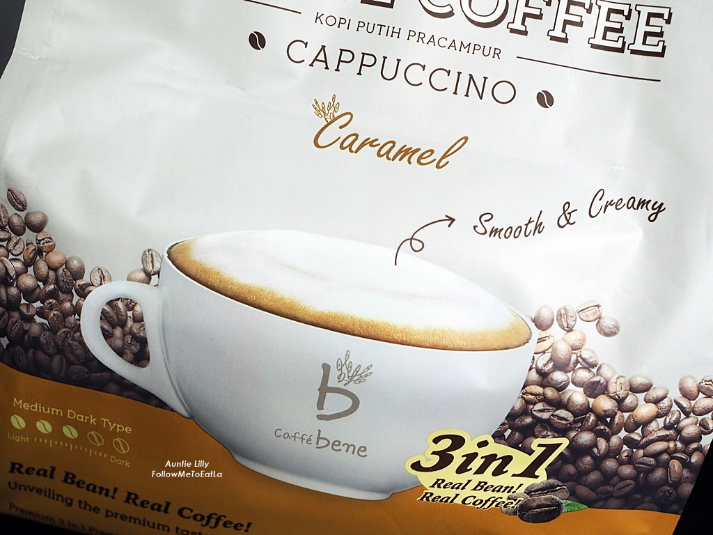 Follow Me To Eat La Malaysian Food Blog Drink Caffe Bene Premix Kopi Wihte With White Coffee Now Im Getting Used A Little Luxury Sipping My In The Comfort Of Home