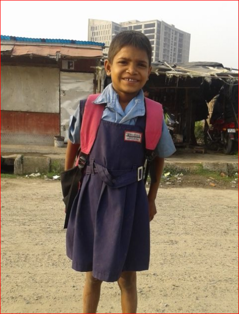 Little Reshma , started going to school.