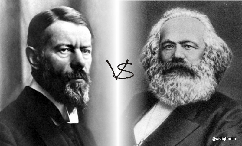 karl marx and max weber different Essay marx weber and durkheim on religion three main sociologist writers karl marx, max weber and emile durkheim offer different perspectives on religion and how important it is to society.