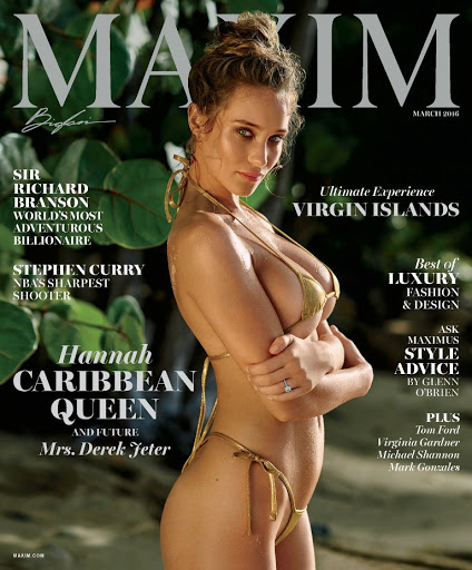 hannah davis topless model photo shoot maxim magazine cover