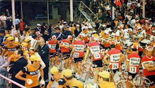Les coureurs avec des casquettes, Tour de France 1972