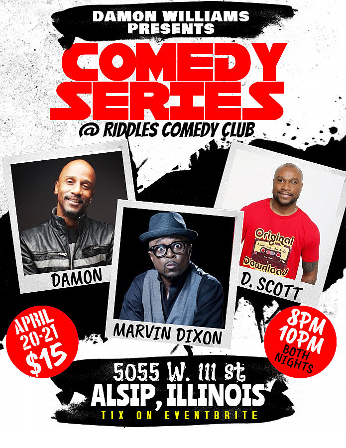 SHOW-TIME: Riddles Comedy Club (April 20-21)