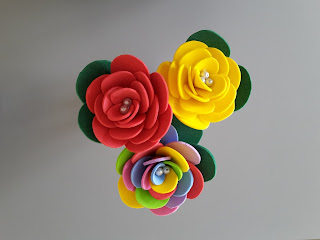 róże z pianki