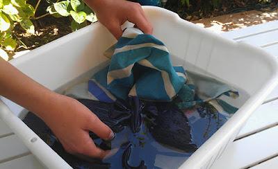 Antes de lavar o Biquíni