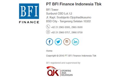 Alamat Kantor Cabang BFI Finance Indonesia