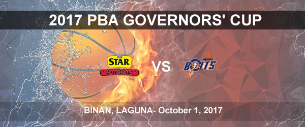 List of PBA Game(s) Sunday October 1, 2017 @ Binan, Laguna