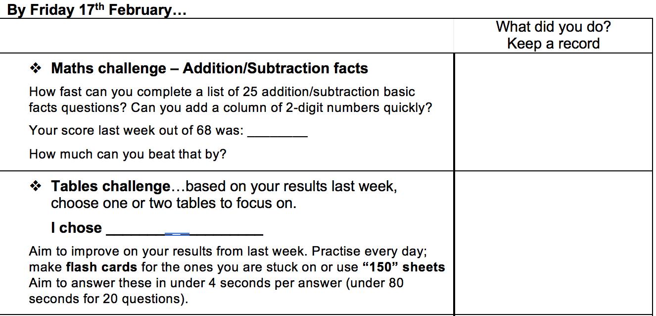 Room 5: Home Learning Challenge - Week 3