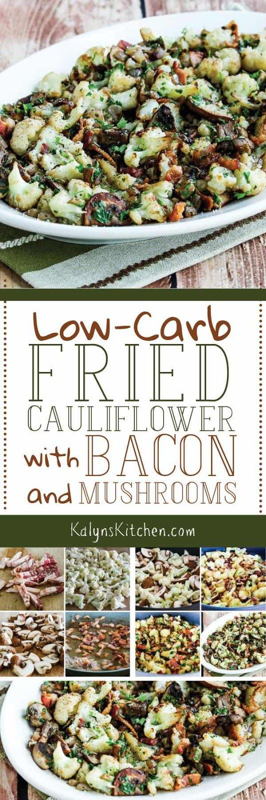 Fried Cauliflower with Bacon and Mushrooms