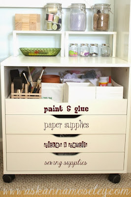Annau0027s is one of my favourite as she has creatively remove the top two drawers to create an extra open tall drawer at the top. & CRAFTY STORAGE: Craft Storage Most Popular | Alex - from IKEA - the ...