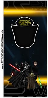 Etiquetas para Imprimir Gratis de Star Wars.