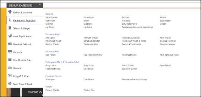 kelengkapan produk yang ada di blanja.com