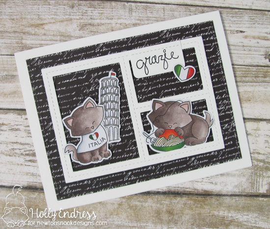 Italy Cat card by Holly Endress | Newton Dreams of Italy stamp set by Newton's Nook Designs #newtonsnook