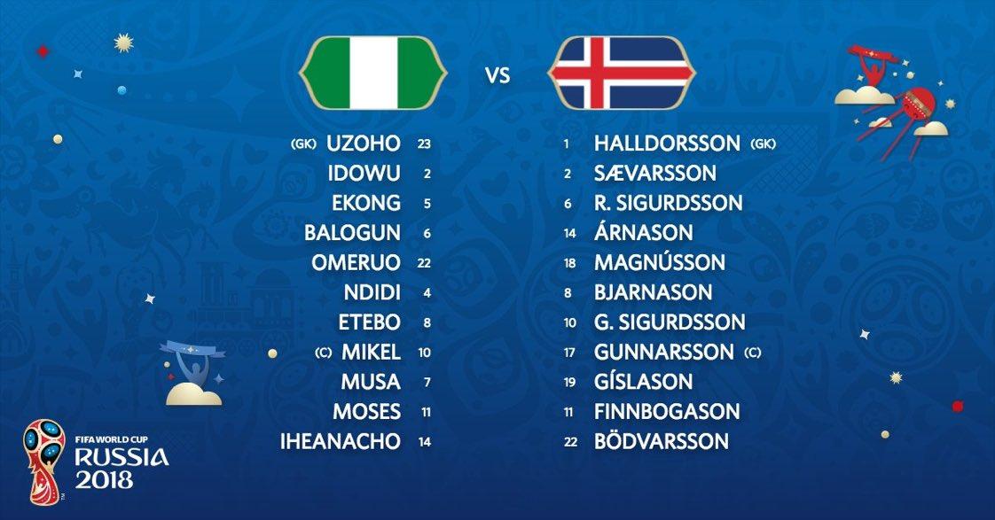 فوز تاريخى لمنتخب النسور النيجيرية امام المنتخب الايسلندى كأس العالم الجولة الثانية بفضل الهداف التاريخى احمد موسى