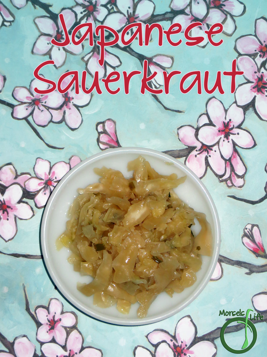 Morsels of Life - Japanese Sauerkraut - A Japanese-inspired sauerkraut flavored with green onions and soy sauce.