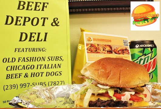 "BURGERS239 - "" WE FOUND A HIDDEN BURGER GEM "" @ ( BEEF DEPOT & DELI ) 50 Pine Island Rd. Unit 9, North Fort Myers Florida 33909 (239) 997-7827"
