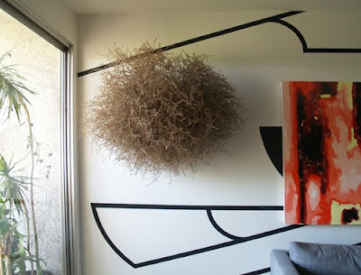 idea creativa para decorar una pared