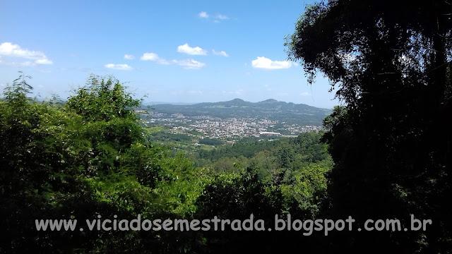Vista da cidade de Dois Irmãos, Belvedere da BR-116, Morro Reuter, Rota Romântica