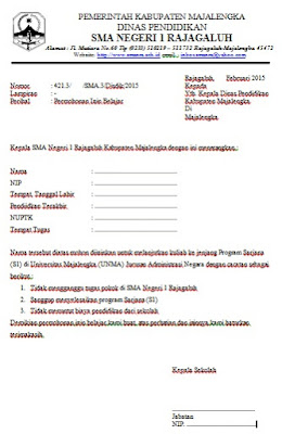 Inilah Contoh Surat Izin Belajar Untuk Pns Contoh Surat Lengkap