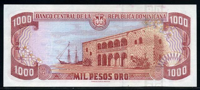 Dominican 1000 Pesos Banknote, paper money