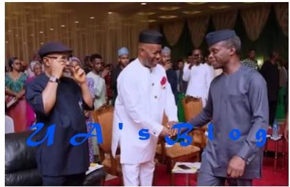 Osinbajo meets Senate minority leader Godswill Akpabio over planned defection to APC