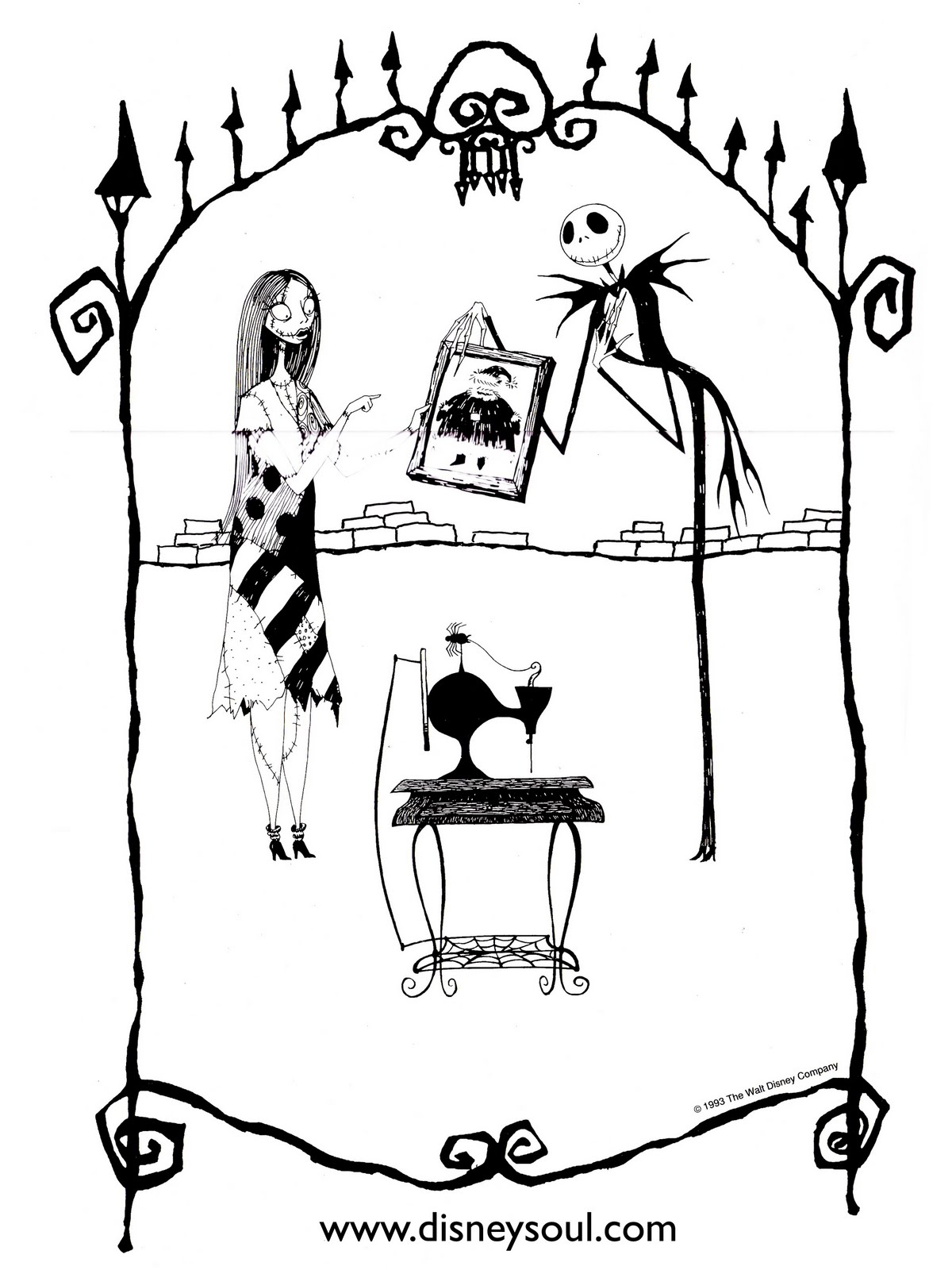 Nightmare Before Christmas Coloring Pages Mayoral