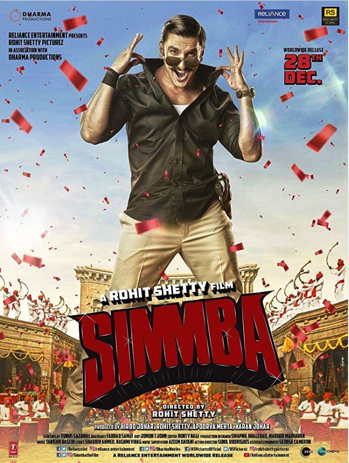 Simmba (2018) Update Print Audio Clean Hindi 720p Desi Pre Rip x264 AAC Download (Best Print)