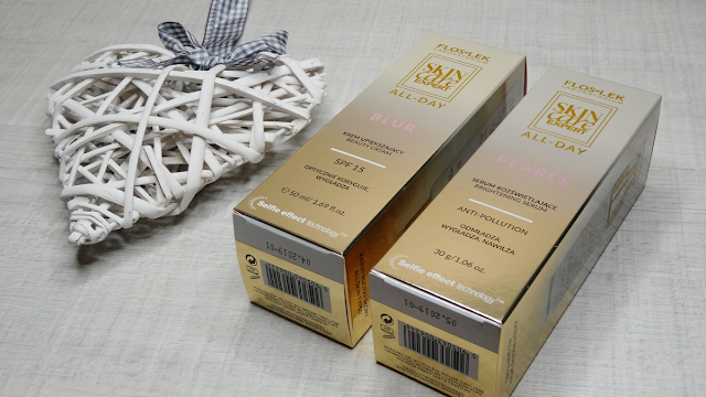 Floslek, Skin Care Expert All-Day, krem upiększający BLUR, serum rozświetlające PEARLS