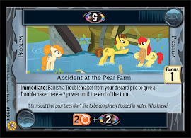 My Little Pony Accident at the Pear Farm Friends Forever CCG Card