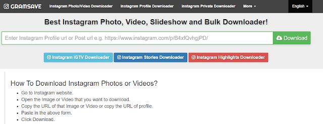 Lista de sites e aplicativos mais relevantes para baixar videos do Instagram