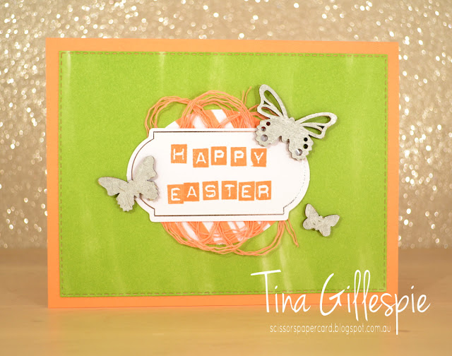 scissorspapercard, Stampin' Up!, Art With Heart, Incredible Like You Kit, Labeler Alphabet, Rectangle Stitched Framelits, Butterfly Elements, Easter