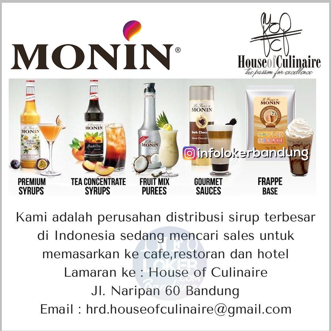 Lowongan Kerja Sales House Of Culinaire Bandung Agustus 2018